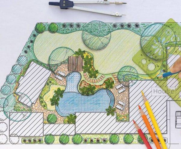 Garden landscaping in Abingdon
