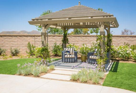 Pergola installation landscaping in Radley