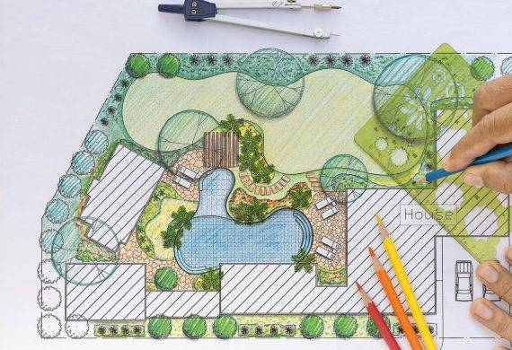 Hand Drawing Of Landscaping In Radley