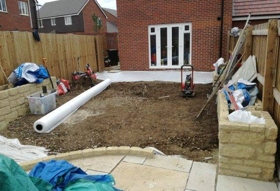 South Abingdon Surburban Garden Build in Progress