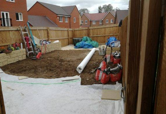 South Abingdon Suburban Garden Landscaping Work